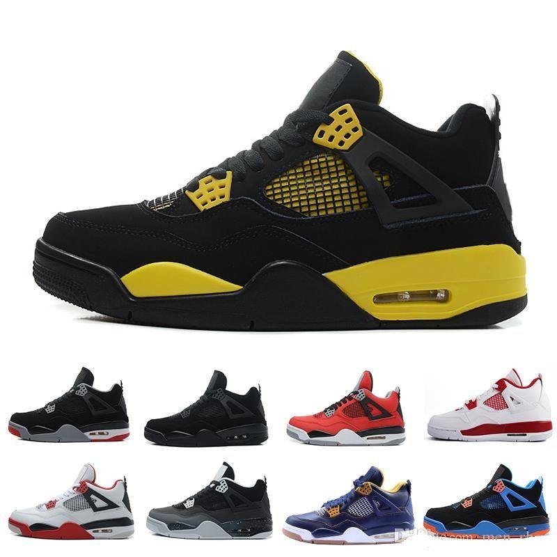 7b03df236336 4 Basketball Shoes Men 4s Black Cat Bred Cavs Cement Oreo Pure Money  Royalty Toro Bravo Mars Blackmon Sports Shoes Sneakers 40 47 Shaq Shoes Kd  Basketball ...