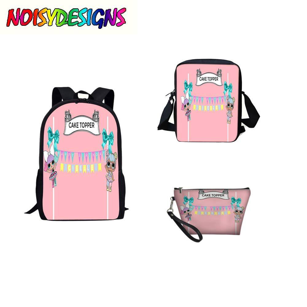 10105ba99c64 LOL Dolls Letter Printing Backpacks Children School Bags For Kids Teenagers  Girls Bookbag School Shoulder Mochila Zaino Lol DOLL Military Backpacks  Ladies ...