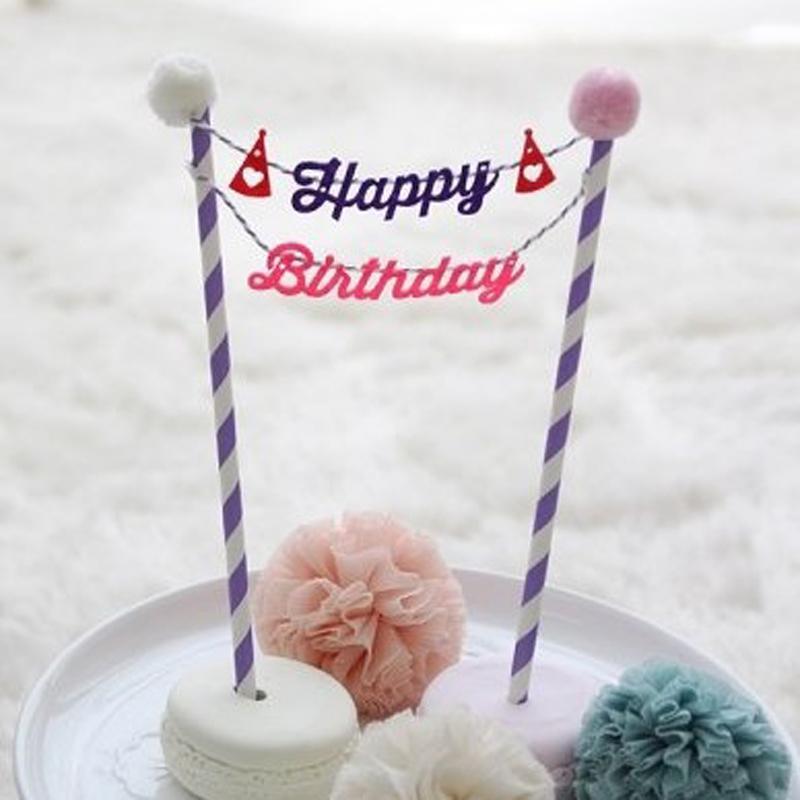 2018 Cute Happy Birthday Cake Topper Set For Kids Happy Birthday
