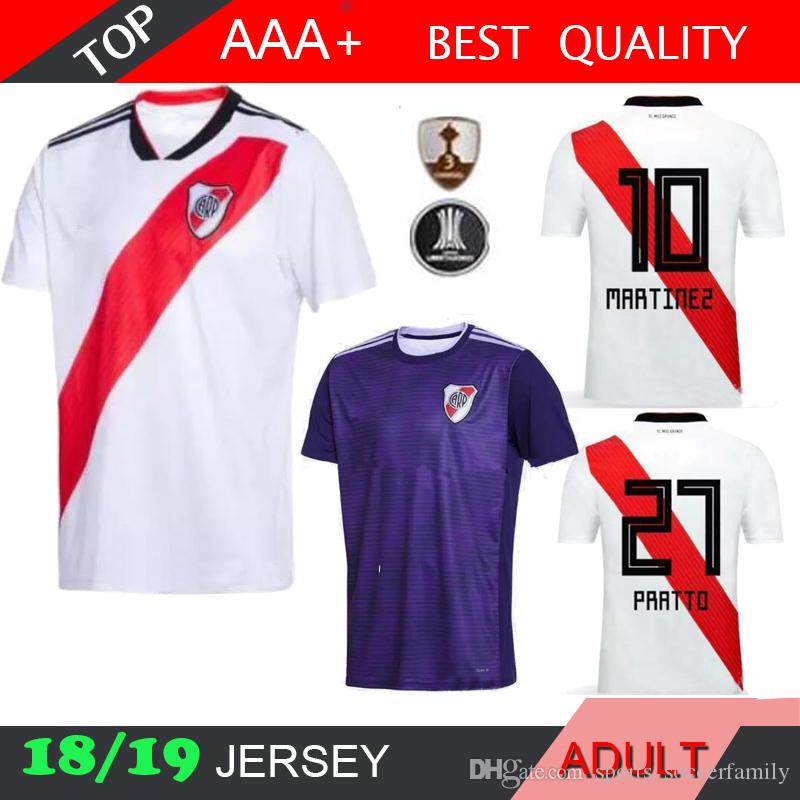 b1d9a0364e9 2019 2018 2019 River Plate Soccer Jersey Home White Shirt 18 19 Fernández  Martínez Shirt 27 PRATTO 8 OUINTERO 10 MARTINEZ FOOTBALL SHIRTS JERSEY From  ...