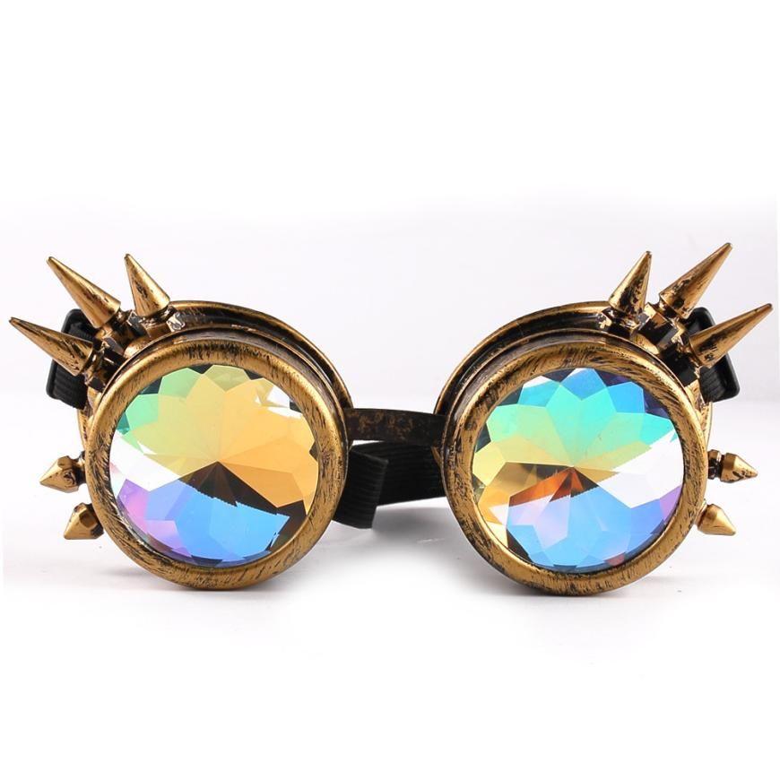 7e184184b5293 Compre 2018 Novo Caleidoscópio Colorido Óculos Mulheres Óculos De Sol  Oculos Óculos De Sol Óculos De Sol Mujer Okulary Oculos B20 De  Enchanting11, ...