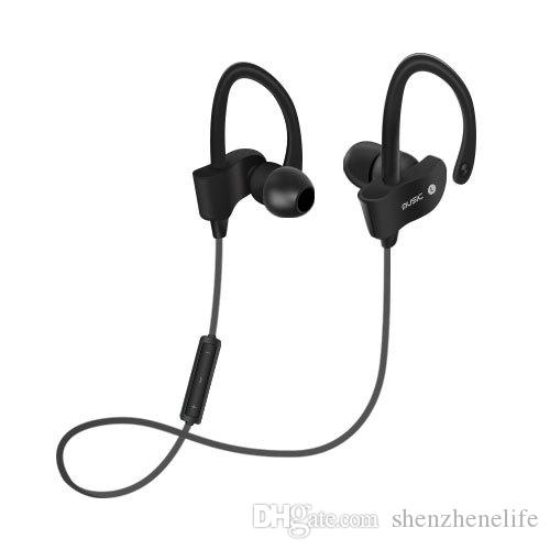 Sports In-Ear Wireless Bluetooth Earphone Stereo Earbuds Headset Bass Earphones with Mic for iPhone Samsung Phone
