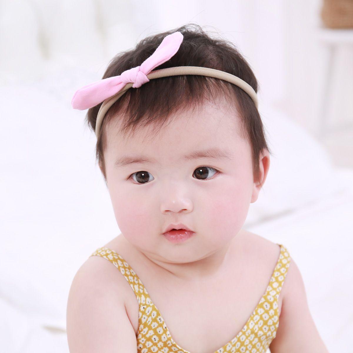FAST SHIP!30 10CM Newborn Baby Bunny Ear Elastic Headband Bowknot ... 0c116d5f2e4