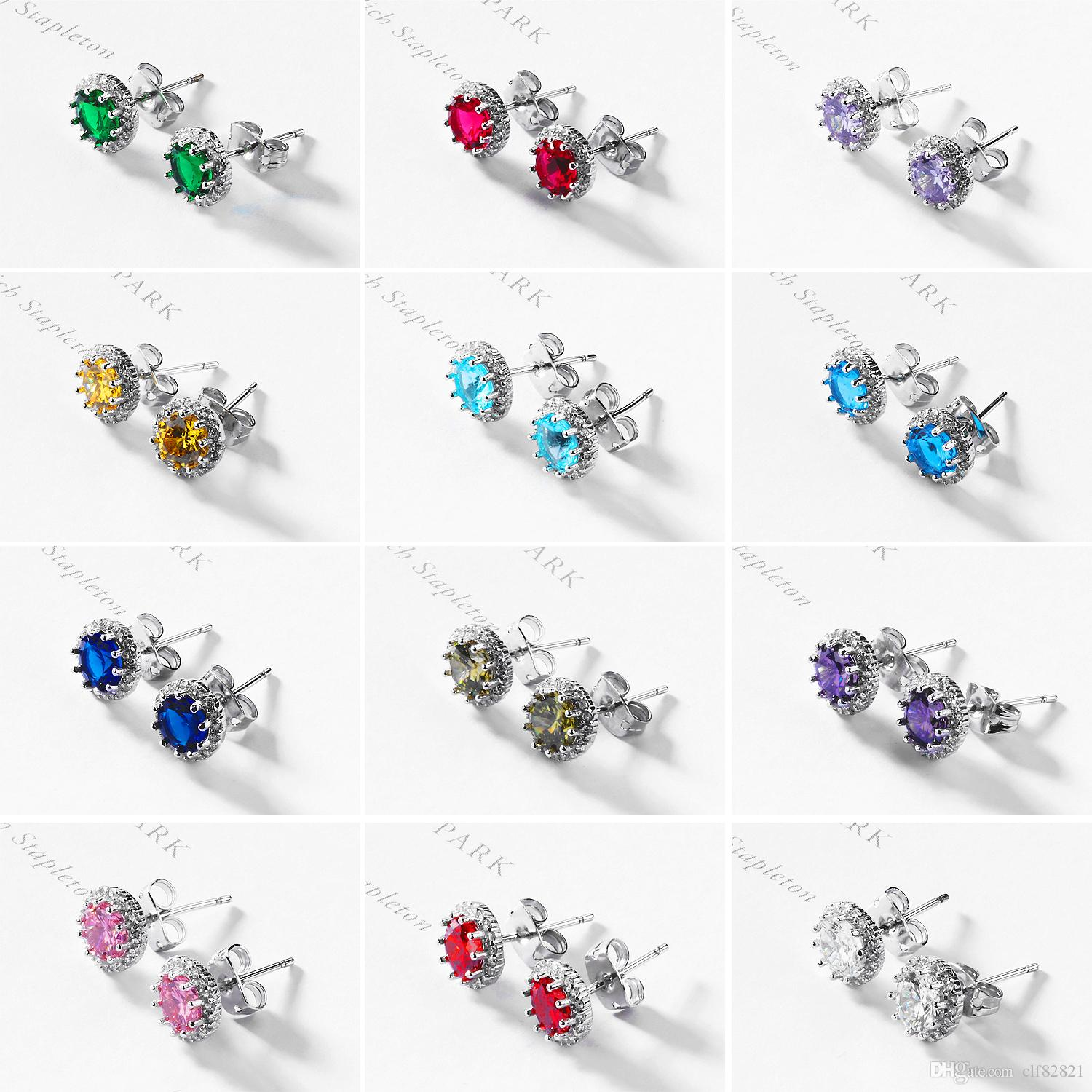 a6d756bf2 2019 Fashion Colorful Stone Stud Earrings December Lucky Stud Earrings  Colorful Stud Earrings Wholesale From Clf82821, $24.37 | DHgate.Com
