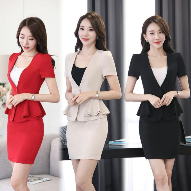2018 2018 Formal Fashion Work Wear Women Skirt Suit Business Office