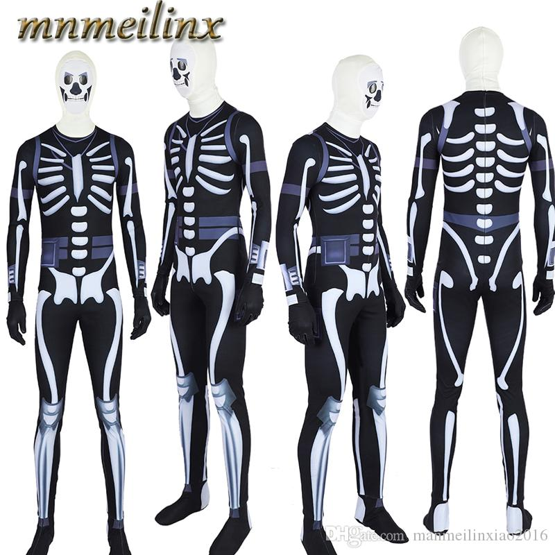 Fortnite Fortress Battle Skull Trooper Cosplay Costume Jumpsuit Zentai Any  Size With Mask Gloves Halloween Custom Made