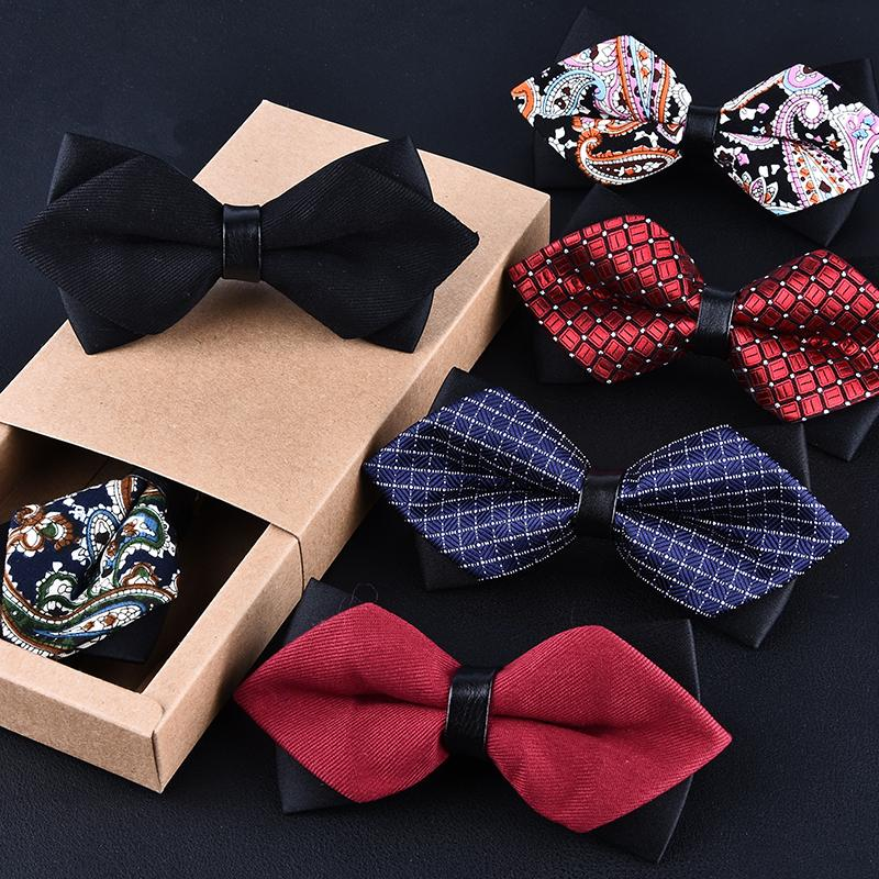 e3ccb637d045 High-grade newest butterfly knot men's accessories bow tie black red cravat  formal commercial suit wedding ceremony