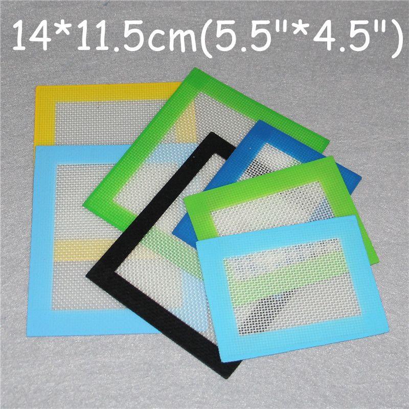 Les tampons de cire de silicone sèchent les tapis d'herbe grands feuilles de dabber de tapis carré de 14 * 11.5cm bocaux dab outil pour les plates-formes pétrolières en silicium