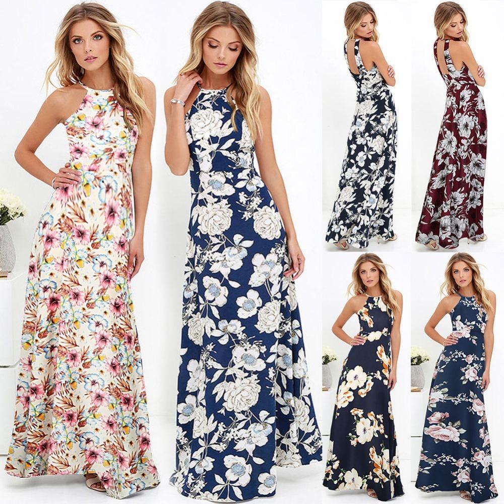 a0343b4e1fb 2019 Women Vintage Floral Boho Long Dress Sexy Off Shoulder Maxi Dress 2018  Summer Beach Party Dresses Female 3XL 4XL 5XL Plus Size Y1891001 From  Zhengrui01 ...