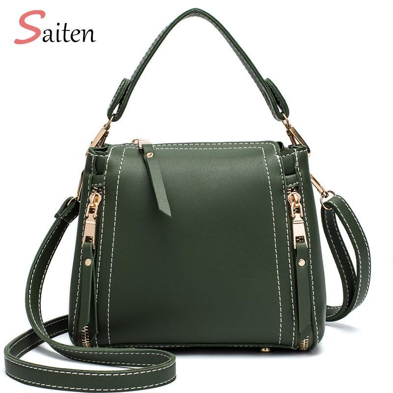 9b5de4ea8e Saiten Fashion Leather Women Handbag Vintage Mini Women Messenger Bags  Luxurious PU Female Shoulder Bag Lady Stlye Bag Two Sizes Cheap Designer  Handbags ...