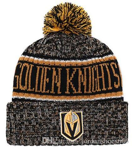 Winter Hat Vegas Golden Knights Beanie Sideline Cold Weather Sport Knit Hat  Wool Bonnet Warm TD Graphite Official Reverse Cap Beanies Pink Bow Tie Bow  Ties ... af87d46aa