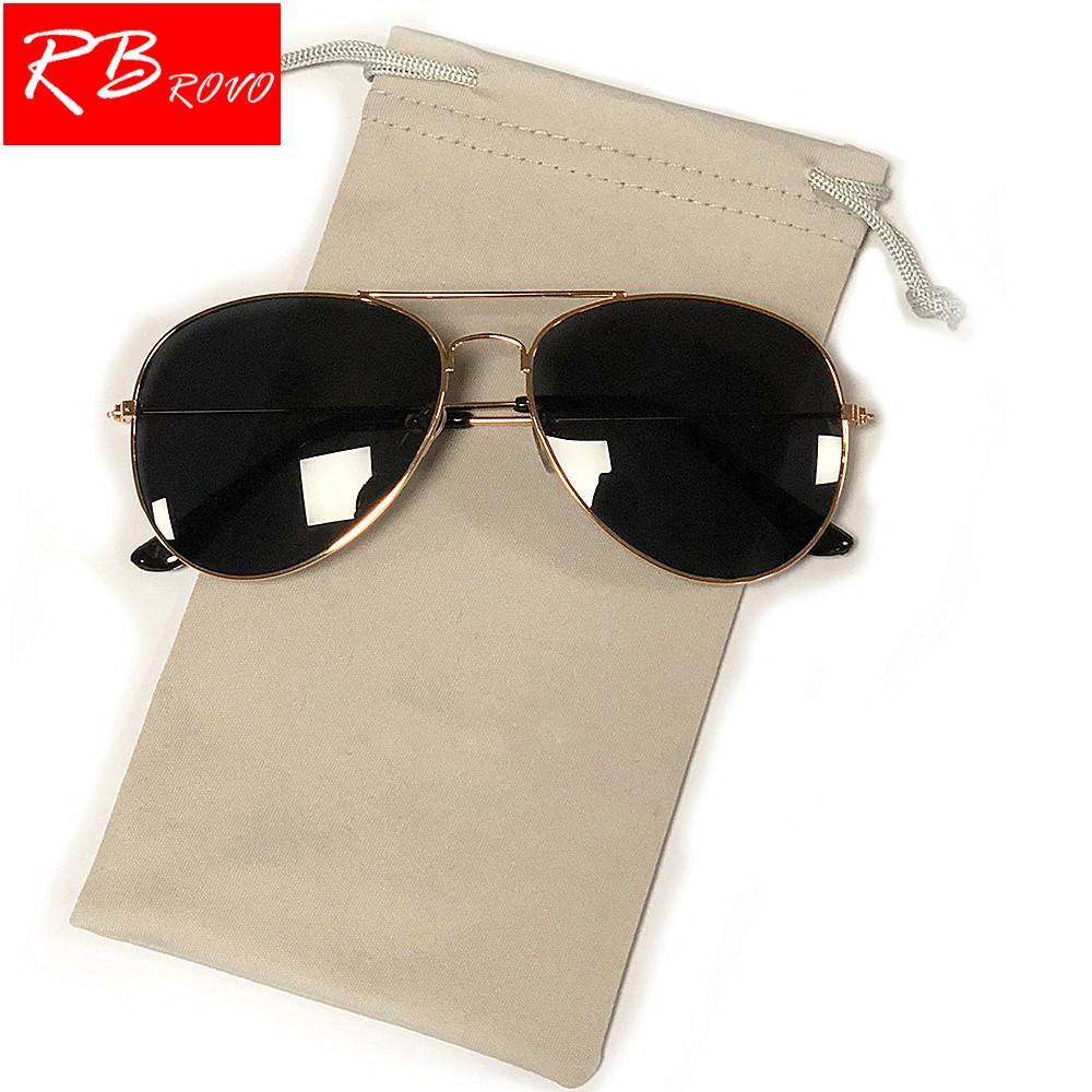 Compre Rbrovo 2018 Piloto Óculos De Sol Das Mulheres   Homens Top Marca  Designer De Luxo Óculos De Sol Para As Mulheres Retro Ao Ar Livre De  Condução Oculos ... 4640cd3070