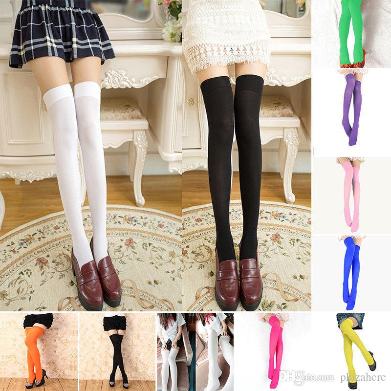 5295115f6 2019 Women Cable Knit Extra Long Boot Socks Over Knee Thigh High School Girl  Stocking From Plazahere
