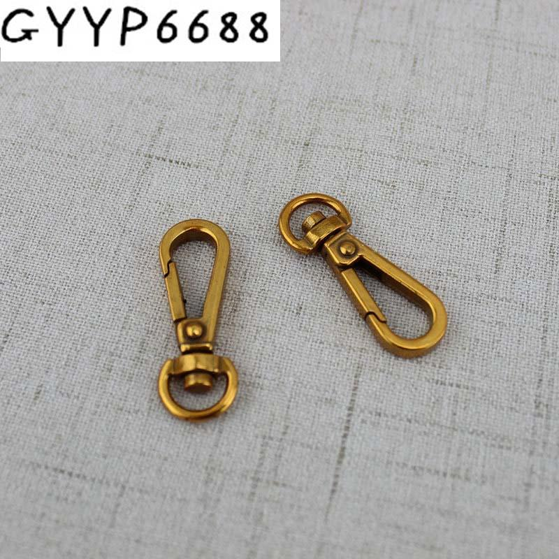 10pcs 50pcs 25*13mm Old gold Hardware Accessories metal handbags purses trigger snap purse hooks for bag practical trigger
