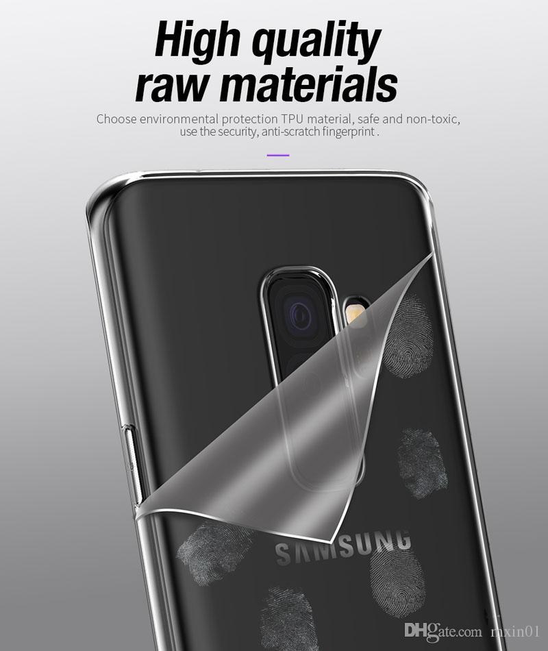 Coque en Silicone Souple Gel Ultra Clair Transparent Transparent TPU Gel pour iPhone X 8 7 6 6 S Samsung S6 S7 Bord S8 S9 Plus Note 3 4 5 Note8