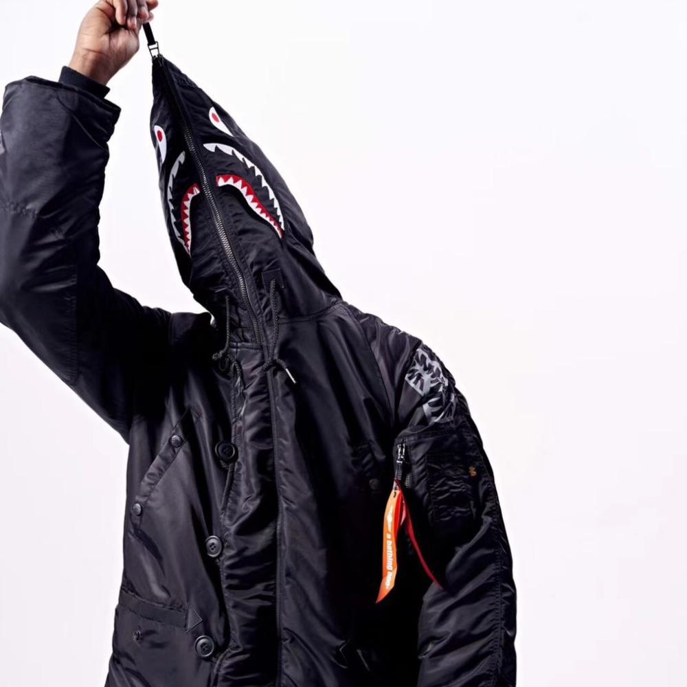 d7d597297 18FW APEE ALPHA Embroidery Hooded Coat Winderproof Waterproof ...