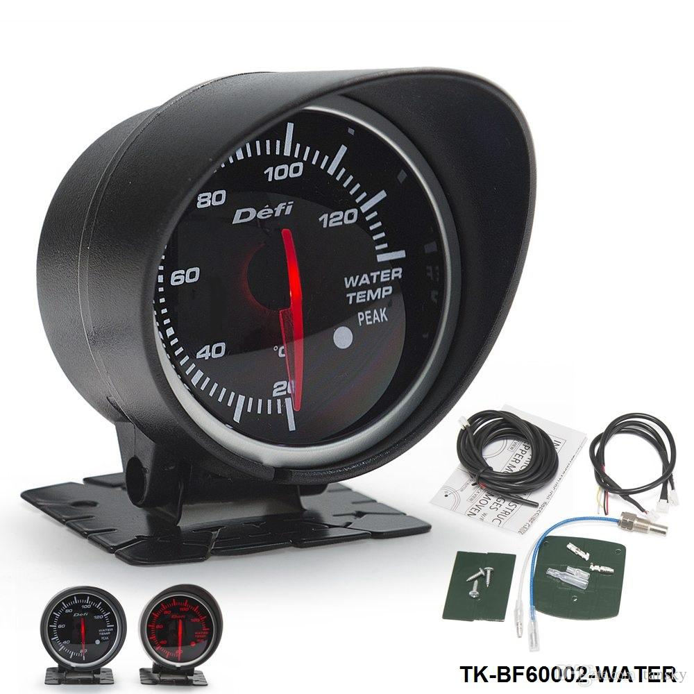 2019 defi water temp gauge 60mm high quality auto car motor led water temp gauge with red. Black Bedroom Furniture Sets. Home Design Ideas