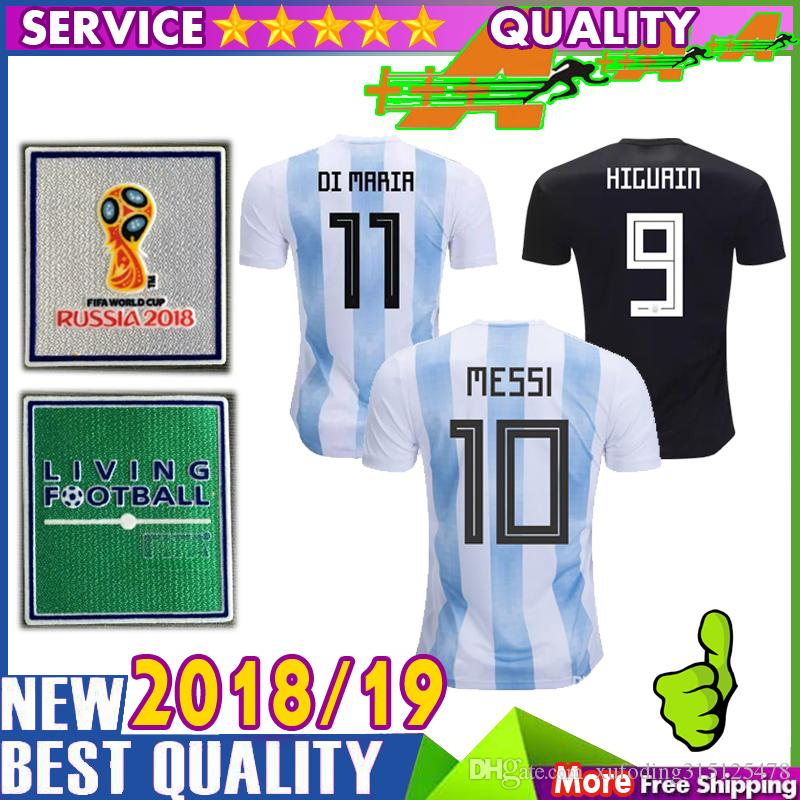 bbd0bf4da 2019 World Cup 2018 Argentina Soccer Jerseys 3A Top Thai Quality DI MARIA  Jersey 18 19 MESSI Football Jersey DYBALA AGUERO ICARDI PASTORE Shirt From  ...