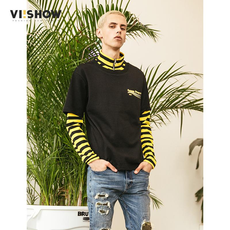 44c53ea4bfc VIISHOW New Arrival Long Sleeve T Shirts Men Brand Clothing Casual ...