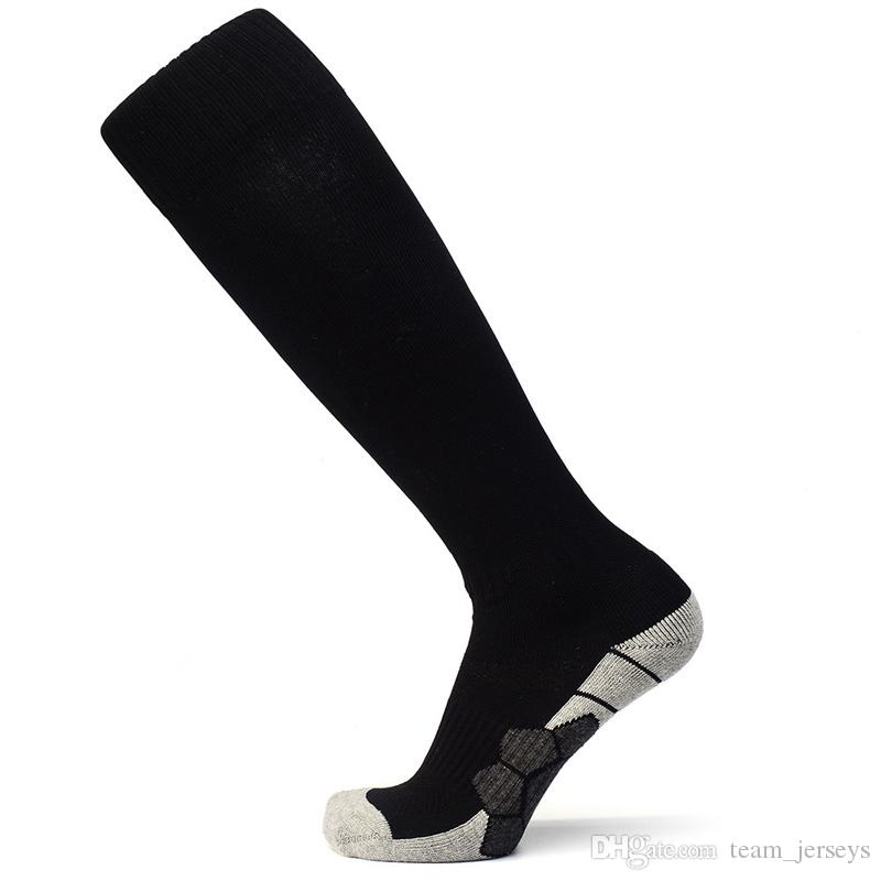 No Logo National Team Football Soccer Socks Men Kids Boys Sports Long Towel Training Socks Basketball Cycling Thicken sox medias de futbol