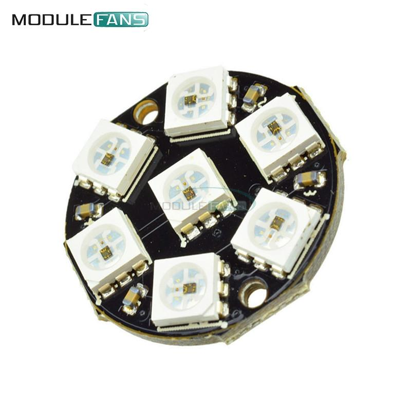 the best attitude 9034c 3d749 7-Bit 7 Bits LED WS2812 5050 RGB LED Ring Lamp Light with Integrated  Drivers For Arduino Reverse Polarity Protection IC Control