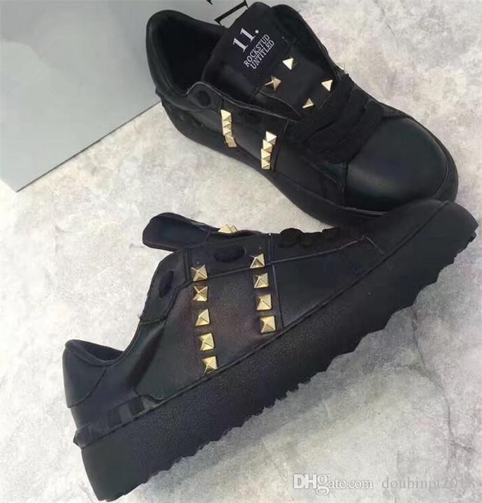 Stazione europea 2018 nuovi marchi primaverili casual rivetti sportivi in stile britannico scarpe piatte in pizzo in pelle di moda tutte le scarpe di corrispondenza del serpente