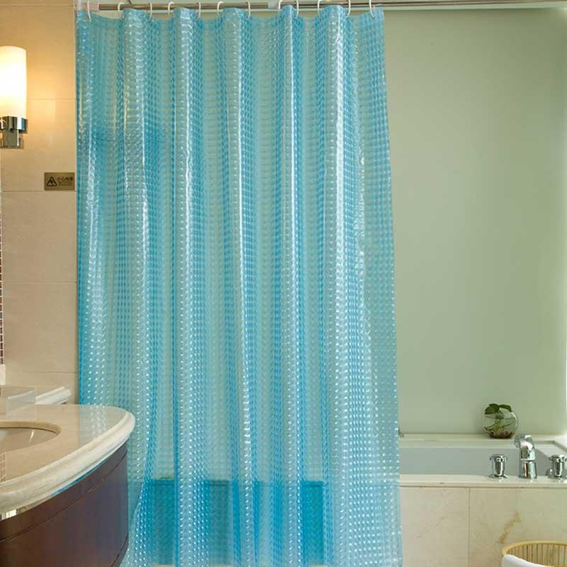 2019 3D Shower Curtain Cube Waterproof Mildew Bathroom Curtains Sanitary Bath Partition Transparent Thickened Water Retaining From Sophine11