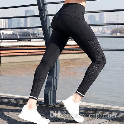 dbfc5c5069 2019 Women Yoga Pants High Elastic Fitness Sport Leggings Tights Slim  Running Sportswear Sports Pants Quick Drying Training Trousers From  Cnpartner1, ...