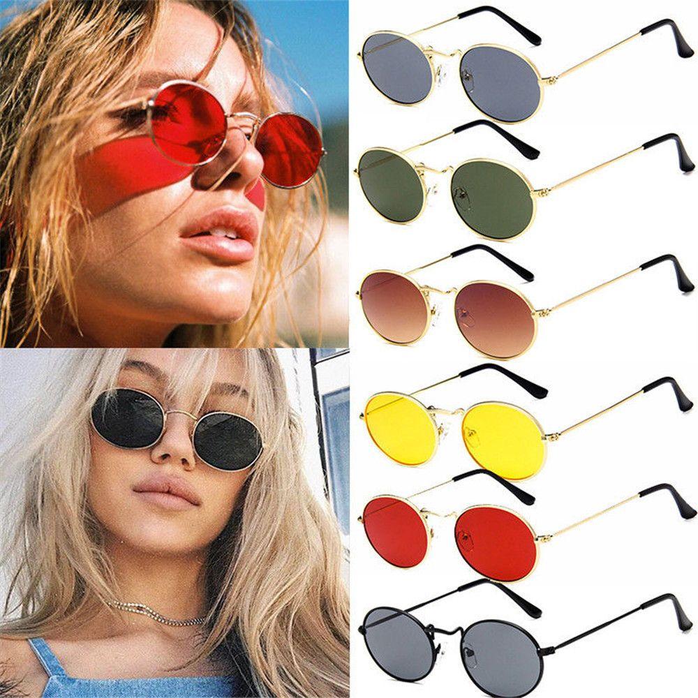 a9ef08c9f0 2018 New Oval Sunglasses Women Men Retro Metal Glasses Transparent Red  Yellow Lens Female Sun Glasses UV400 Gafas De Sol Mujer Knockaround  Sunglasses ...