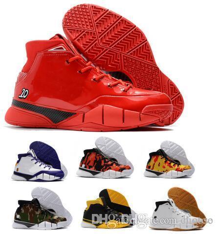 quality design 0cb26 a52c6 Acheter Bon Marché Kobe 1 Protro Air Chaussures De Basket Ball Hommes Violet  Pourpre Close Out Mamba Protrotv Invaincu UND Fade Devin Booker PE Mode  Sport ...
