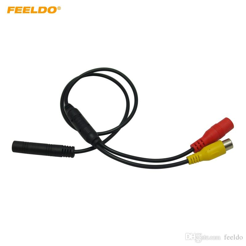 2019 feeldo car backup reverse camera 4 pin male to cvbs rca female  connector signal power adapter wire harness #5678 from feeldo, $3 3 |  dhgate com