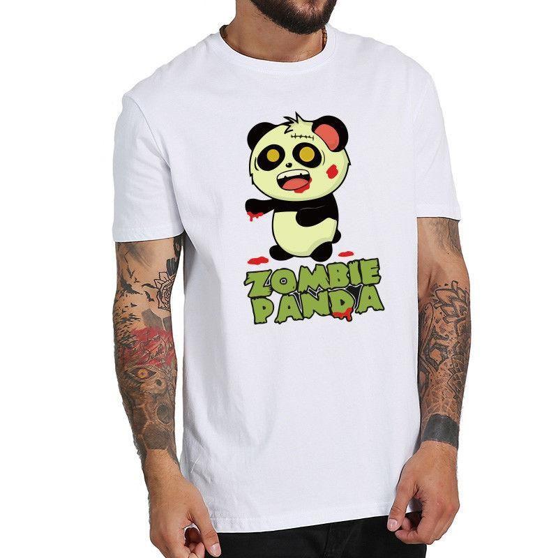 a903d1e29e63 Zmbie panda shirt unisex funny anime originality cute cotton casual shirt  men tees shirts shirt from