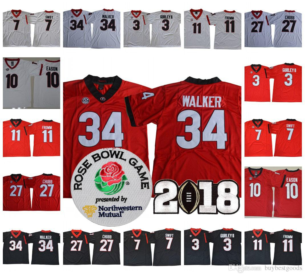 2019 NCAA Georgia Bulldogs UGA  3 Todd Gurley II 34 Herchel Walker Vintage  11 Jake Fromm 1 Fields 98 Blankenship College Football Jerseys From  Buybestgoods ca1ca502c