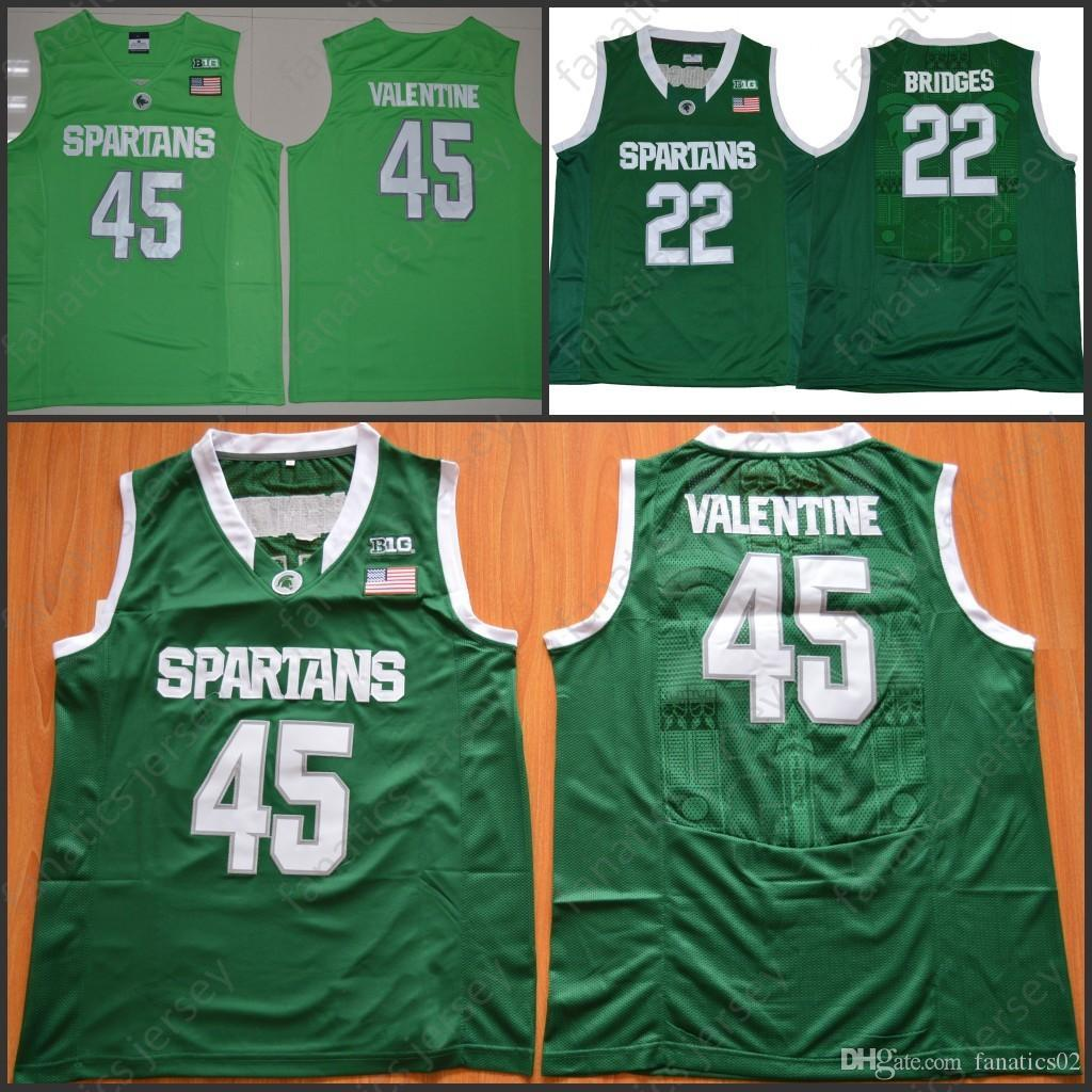 new styles 0ee77 20a95 sweden spartans 45 denzel valentine green authentic ...