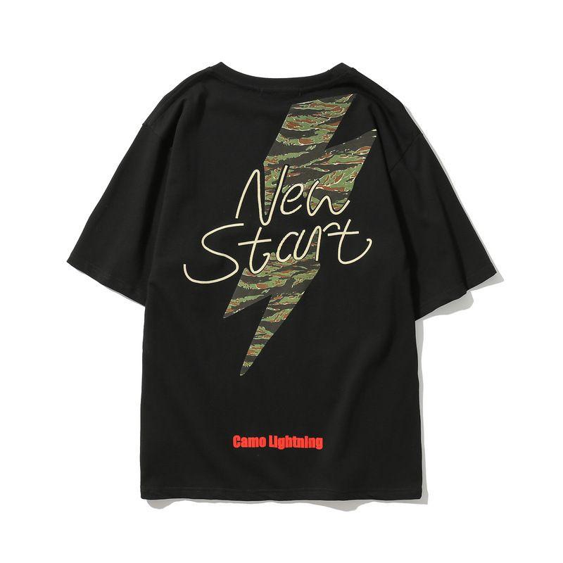 e8c0cd8e503a Mens Street Skateboard Tees Summer Black White Tshirts Casual Loose ...