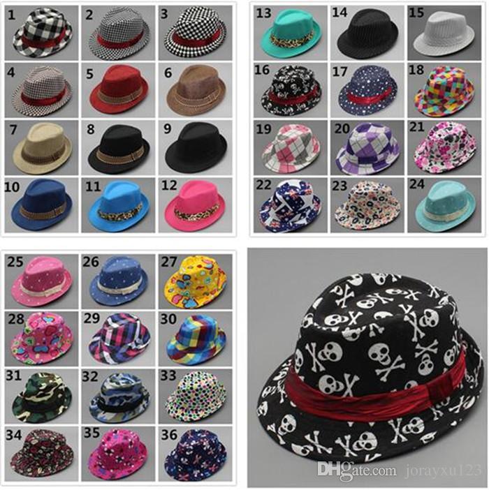 Unisex Casual Fedora Trilby Hat Baby Kids Children s Caps ... 2d902ababd54
