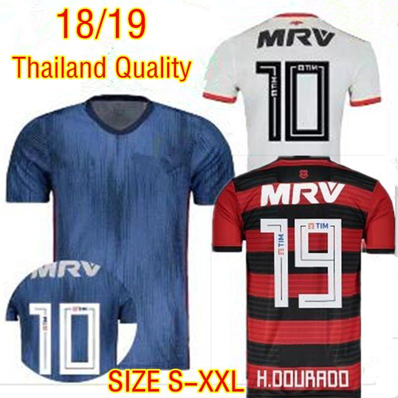 8ca971606 2019 Thai Quality Flamengo Home Away Soccer Jerseys 2018 2019 Flemish  GUERRERO Maillot De Foot DIEGO VINICIUS JR E.Ribeiro 3rd Football Shirts  From ...
