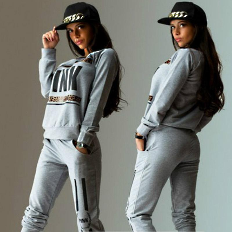 2018 Women Tracksuit Spring Hot Sale Pink Sweatsuits Women Hoodie Set Loose  Pant Suit Casual Letter Print Tracksuits Women Jogging Suit UK 2019 From ... 58f1c4bc4