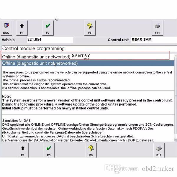 Он-лайн Кодирвоание SCN для инструмента SD C4 / star c4/SD C5 Xentry диагностического один сервер времени