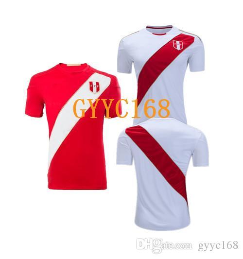 3b00e9050 2018 World Cup Peru Soccer Jersey Home Away Paolo Hurtado Trauco ...