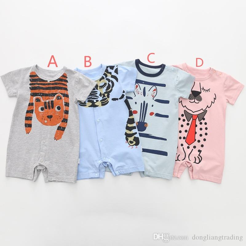 Baby Clothes Set Girls Boys Cartoon Giraffe Print Romper Long Pants Toddler Casual Sleeveless Jumpsuit Playsuits for 0-2 Years Old Kids Outfits