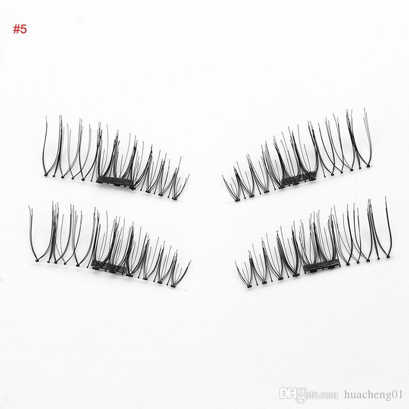 Magnetische Wimpern 3D handgemachte wiederverwendbare Magneten falsche Wimpernverlängerung natürliche weiche Haare Magnet Wimpern Top Qualität 6 Modelle