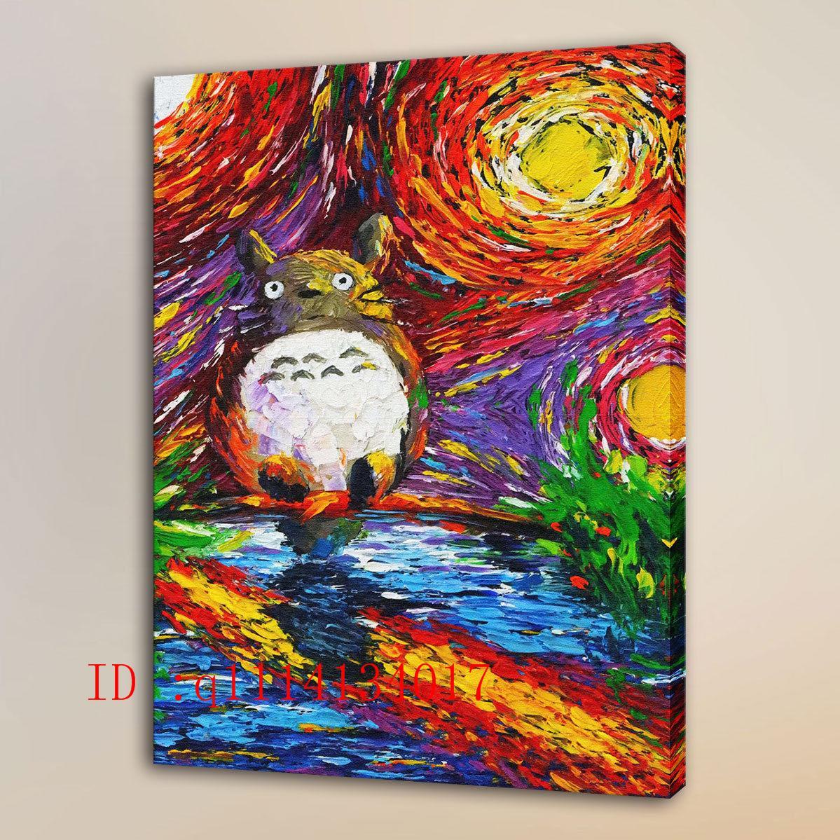 Compre Van Gogh Mi Vecino Totoro Hd Impresiones De La Lona Arte De ...