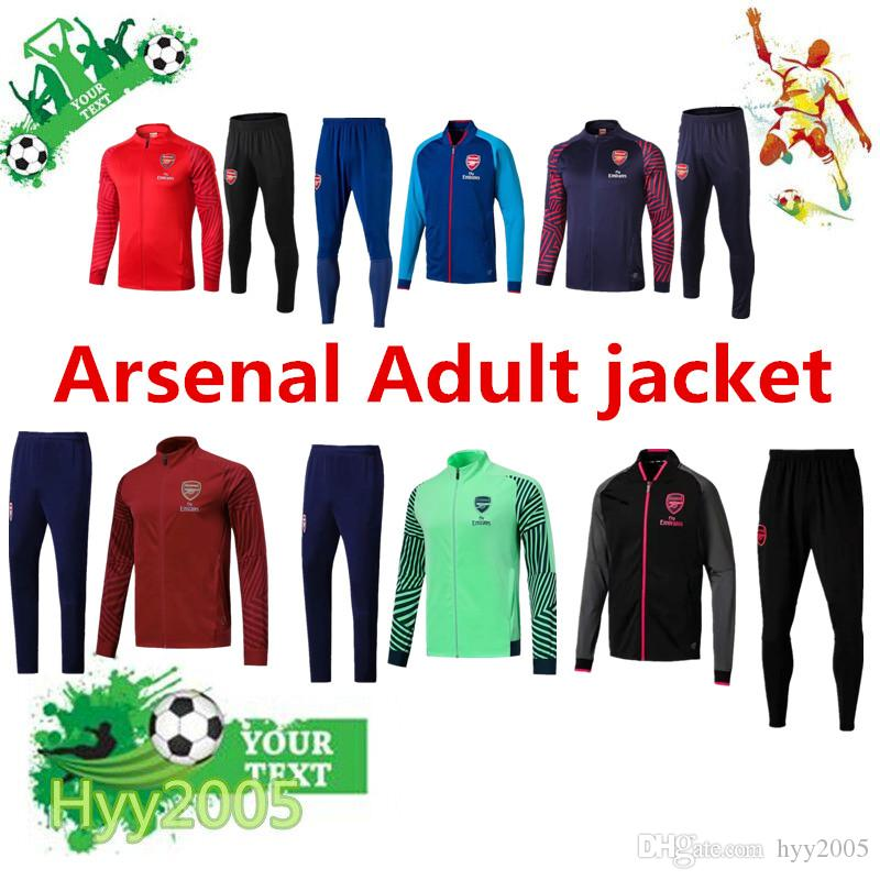 798e66ebc 2019 Arsenal Soccer Jacket 18 19 Survetement Full Zipper Football Jacket  2018 19 Maillot De Foot OZIL RAMSEY GIROUD LACAZETTE Soccer Sportswear From  Hyy2005 ...
