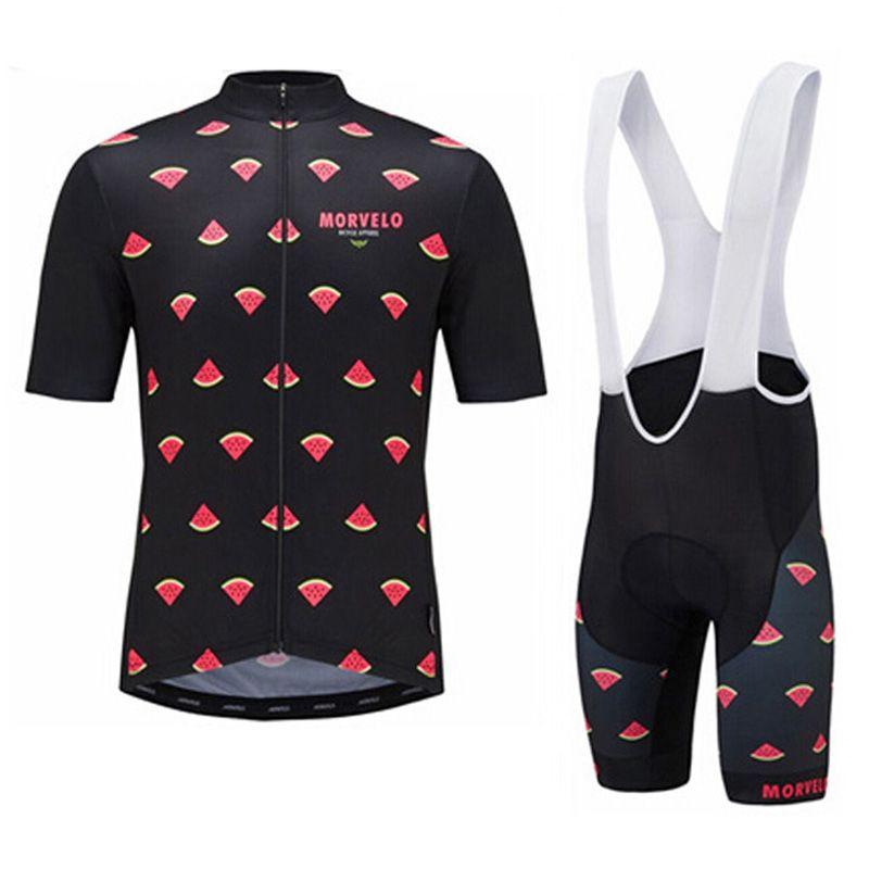 2018 Morvelo Cycling Jersey Short Sleeves Shirts 3D Gel Padded Bib ... 0f5ecae56