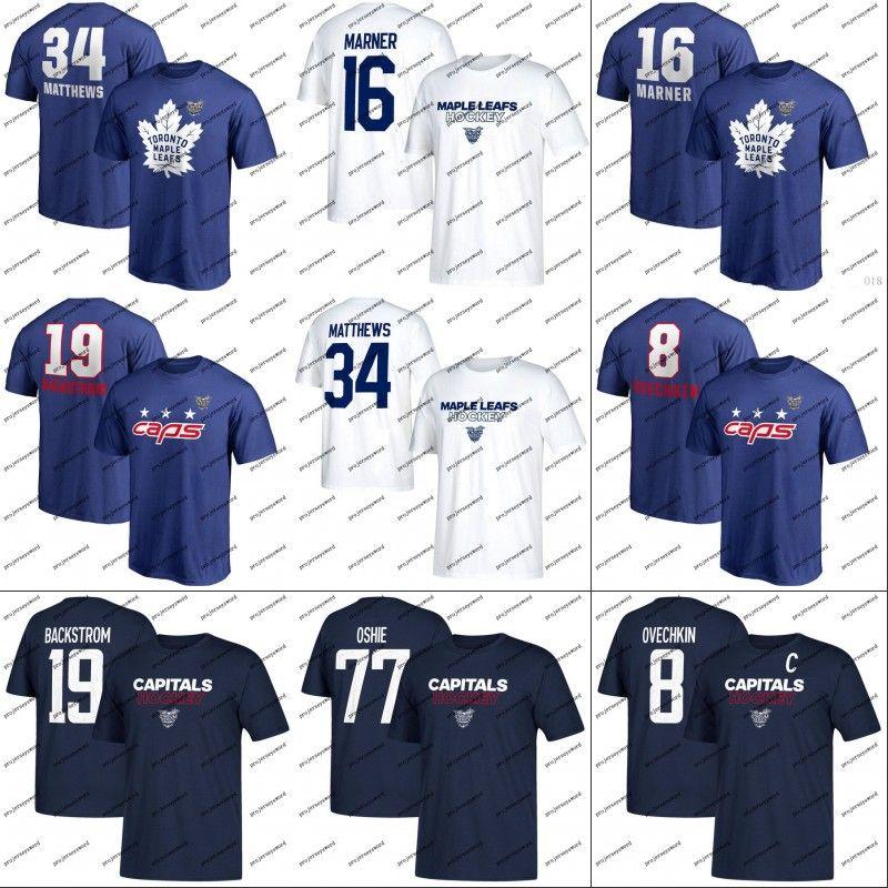 2018 Stadium Series T Shirt Toronto Maple Leafs Mitch Marner Auston  Matthews Washington Capitals Alexander Ovechkin T.J. Oshie Custom Jersey UK  2019 From ... dfce00aac