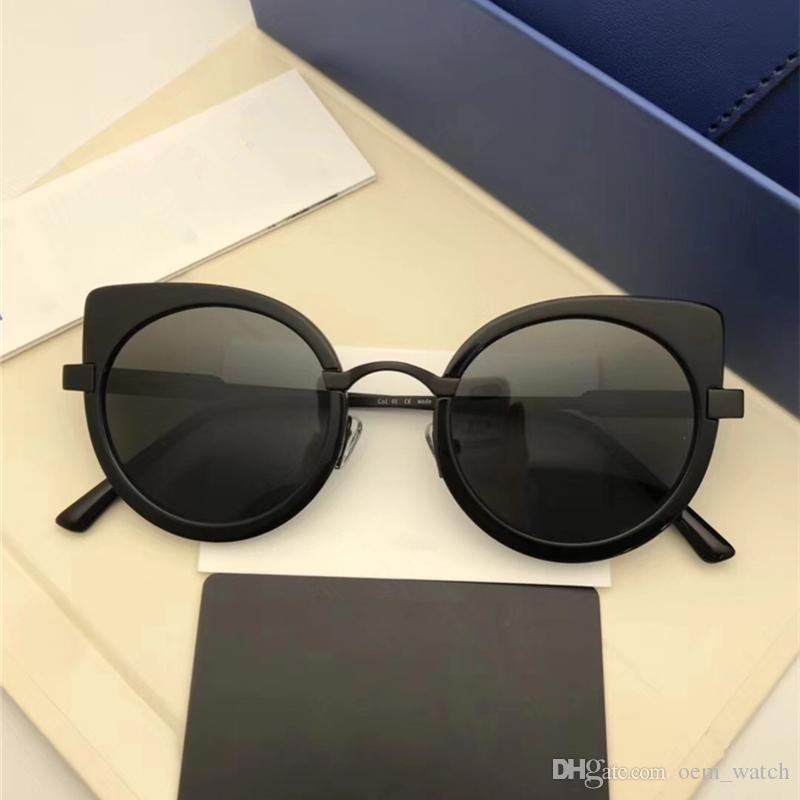4604e4dddd 2018 New Fashion Round Style Sunglasses Cat Eye Sexy Design Lady Big Frame  Abumbral Goggles Luxury Polarized Sunglass GM UV400 Sunglasses Circle  Sunglasses ...