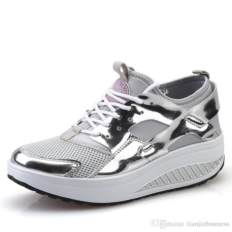 Chaussures Légères Hauteur Balançoires Le Tonifiantes Plate Femmes De Augmenter Nombre Pour Sport Compensées Forme Nn8XOZ0wPk
