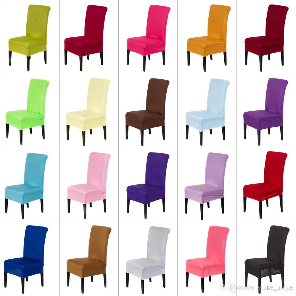 Spandex Stretch Chair Covers Elastic Cloth Washable Chair Seat Cover For Dining Room Weddings Banquet Party Hotel Decorations