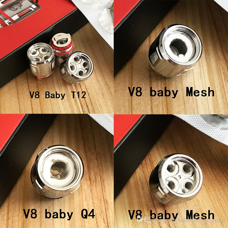 100% Original TFV8 Baby New Beast Coil Head V8 Baby Q4 Mesh T12 Coils For TFV12 Baby Prince Tank 100% Authentic